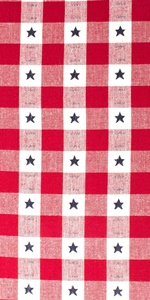 DII 4th of July-themed Star Check Tabletop Collection.