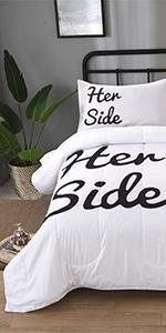 White and Black Comforter Set