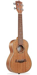 """Ashthorpe ukulele, 23"""" concert size, solid mahogany body and neck, walnut fret and bridge, 4 string"""