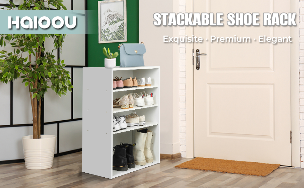 HAIOOU stackable shoe rack