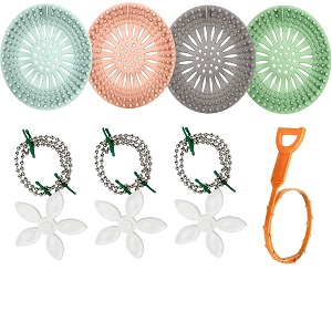 You'll get three different shapes of hair catchers