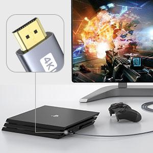 Silkland 4K 60Hz HDMI Cable for PS3, PS4