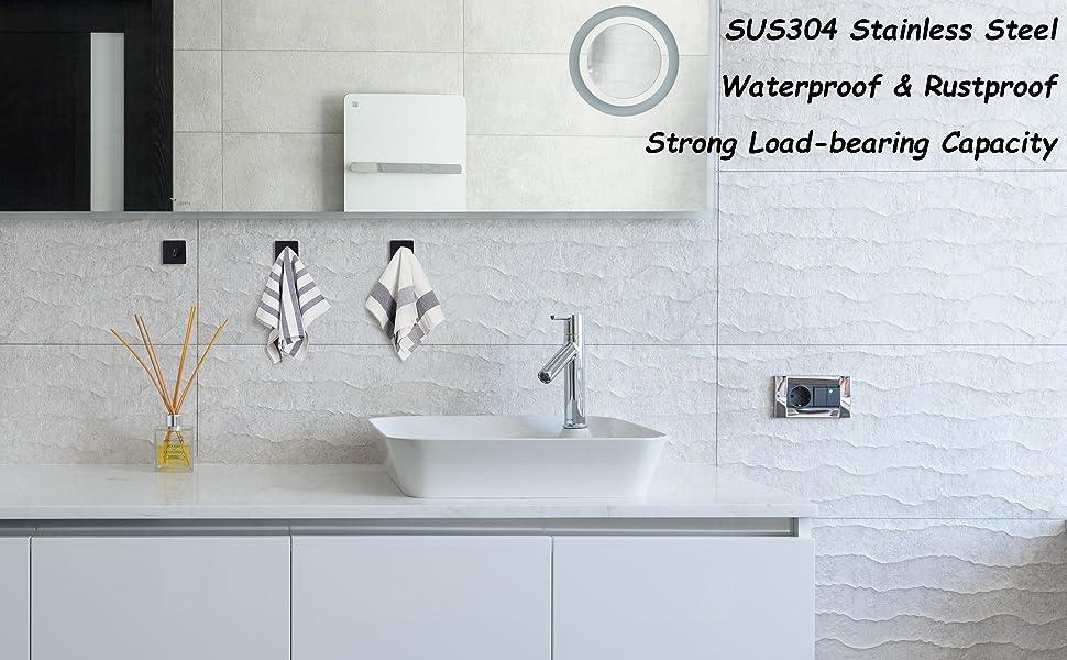 Black Adhesive Hook Waterproof Rustproof Strong Load-bearing Capacity