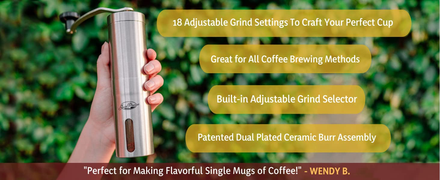 small coffee grinder conical burr bean manual hand crank camping travel espresso