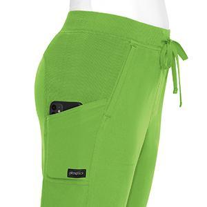 planet koi 746 women's scrub pant side pocket detail