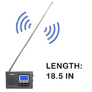 Shortwave Portable Radio length