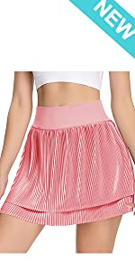 Pleated Tennis Skirts for Women with Pockets Shorts High Waisted Golf Skirt Running Sports Skorts