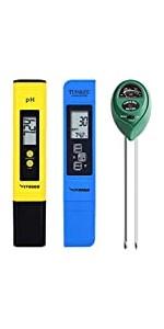 PH Meter, TDS and EC Meter, Soil Tester Combo