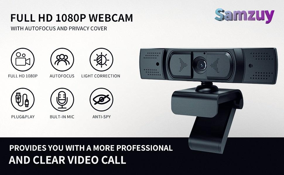 Flashandfocus.com d967e861-eb7b-4c80-a60a-893041fda80d.__CR0,0,970,600_PT0_SX970_V1___ 1080P Webcam with Microphone, Auto Focus and Privacy Cover, USB 2.1 Desktop Laptop Computer Web Camera Great for Zoom…