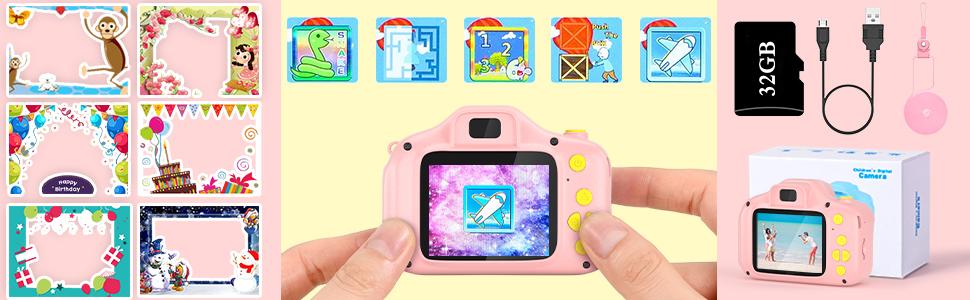 VATENIC girls toys camera gift for age 3-9 year girls