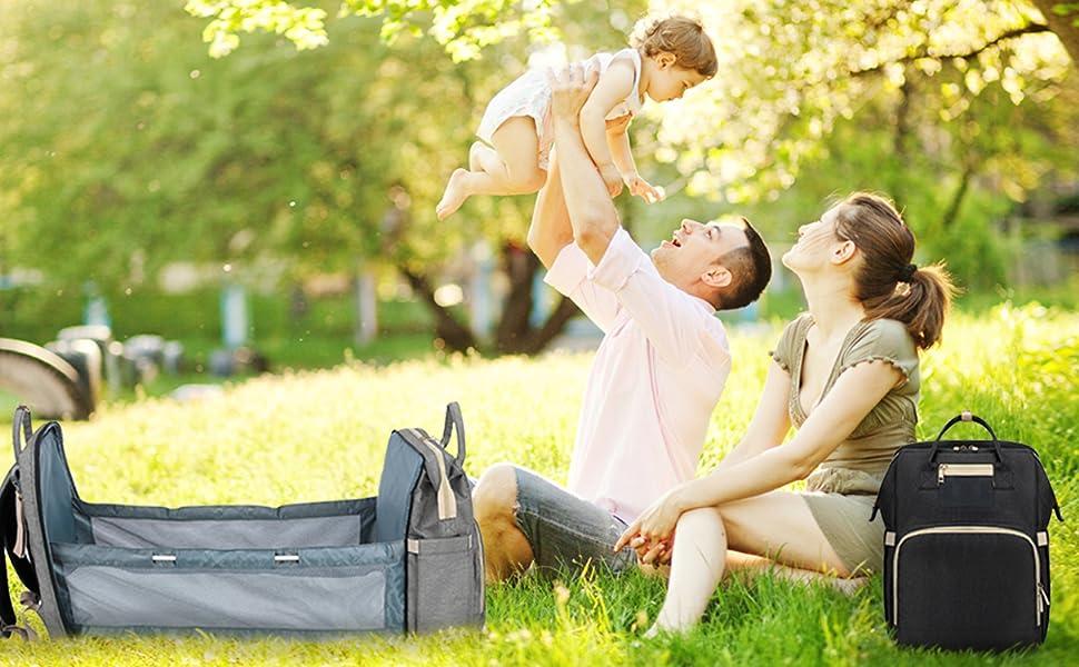 camping backpack diaper bag
