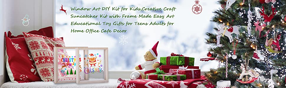 Suncatcher Craft Kit with Wooden Frame and Acrylic Drawing Board