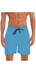 Light blue menamp;#39;s swim bathing shorts with linning