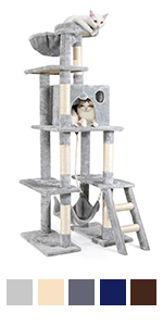 Cat Tree Cat Tower for Indoor Cats, Multi-Level Cat Condo with Hammock & Scratching Posts