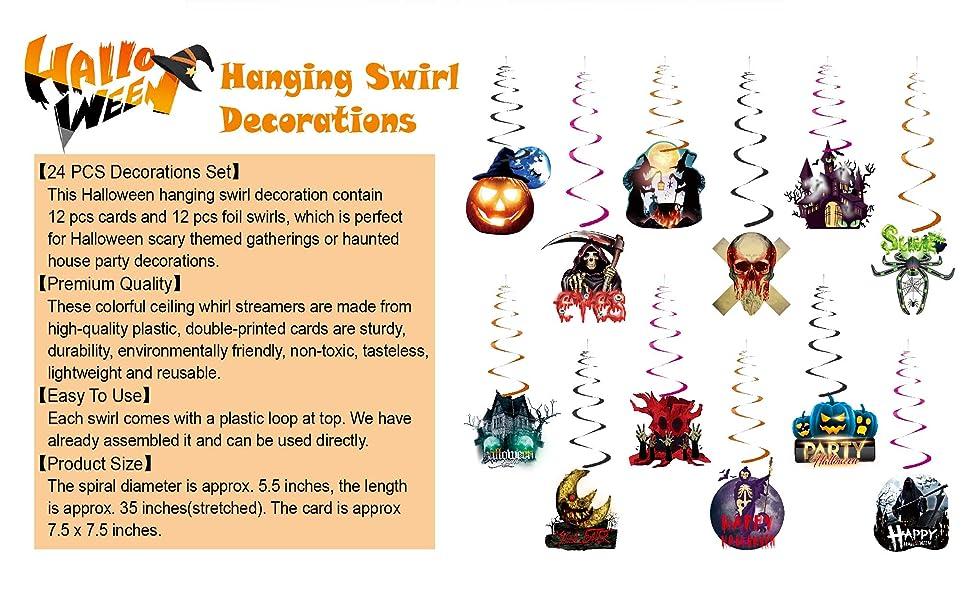 hanging swirl decorations