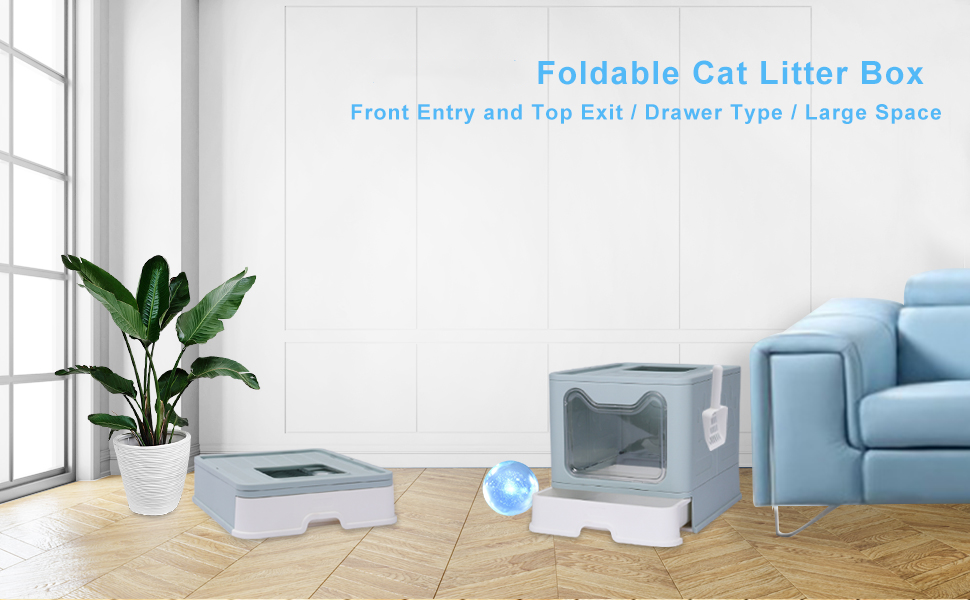 FOLDABLE CAT LITTER BOX