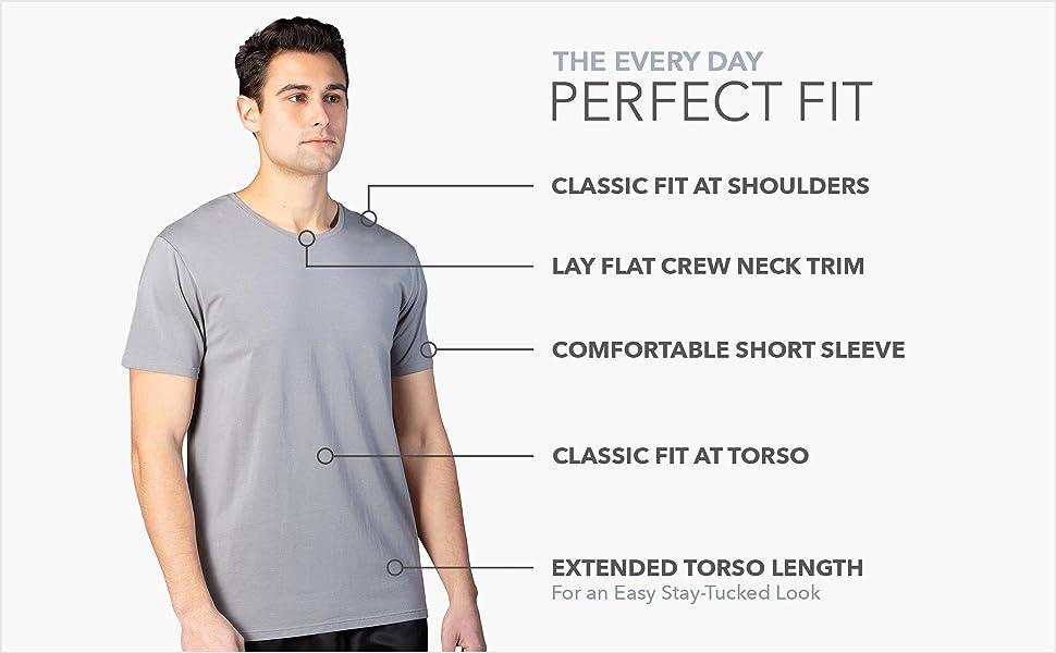 fishers finery mens modal undershirt cotton tee basic tshirt extra length soft stretch shirt