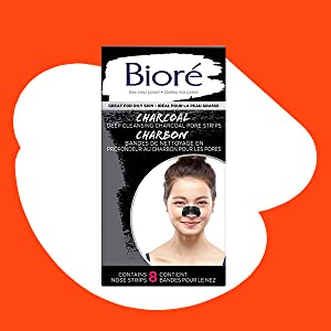 Biore Pore Charcoal nose strip and  blackhead remover for improved better looking clearer skin
