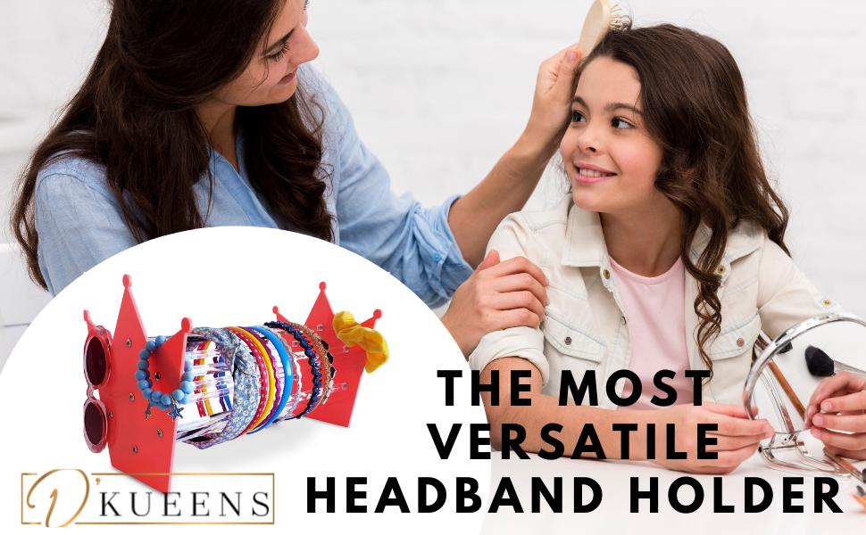 Versatile Acrylic Headband Holder Organizer
