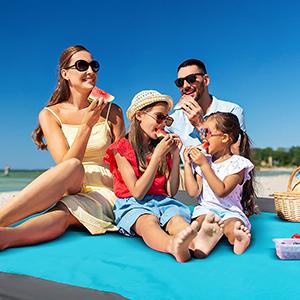 family beach mat