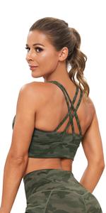 Army Green Camo Sports Bra