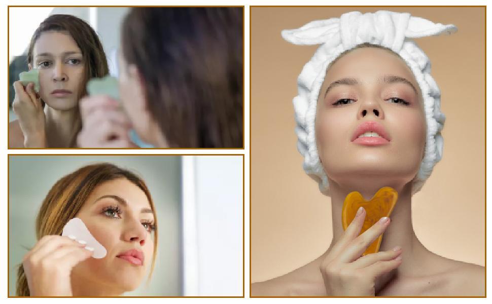 Gua sha board for eye,face,neck,body massage