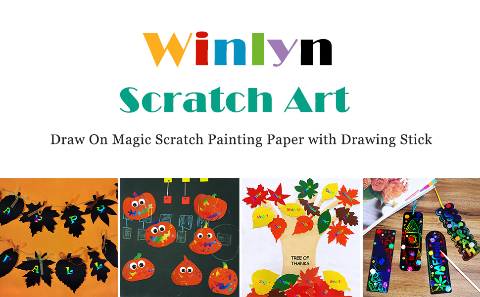 Magic Color Scratch Fall Pumpkin Maple Leaf Acorn Ornaments Craft Kit