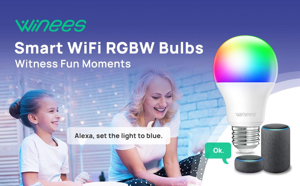 Winees Smart Light Bulbs that Work with ALex