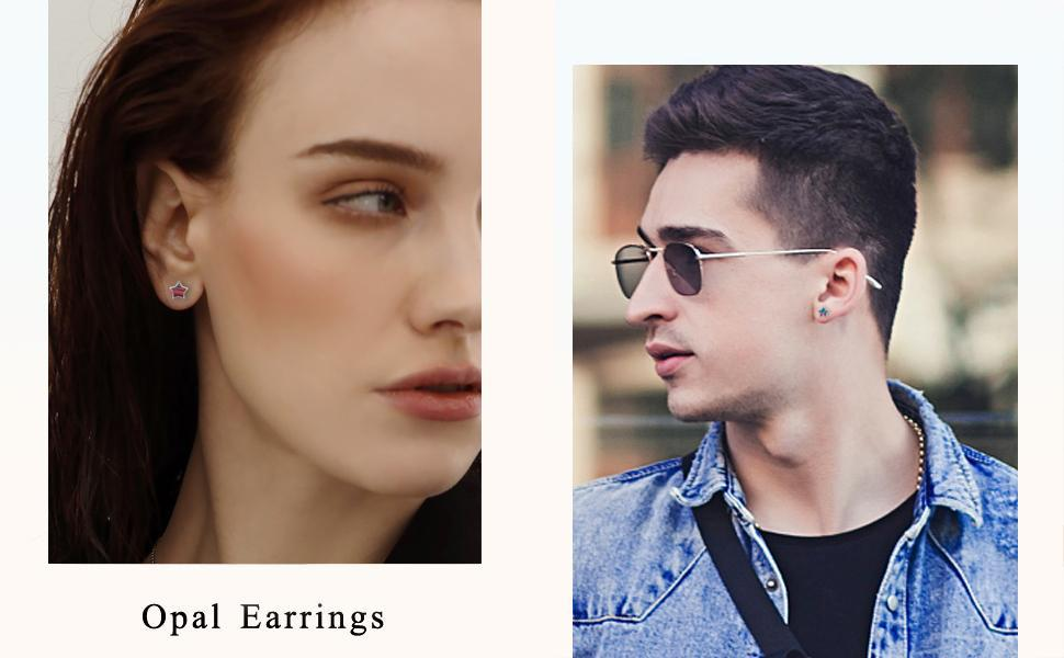 mens stud earrings