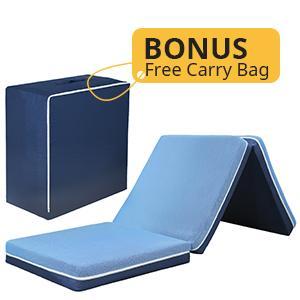 4 Inch Foam Trifold Mattress + Free Storage Bag