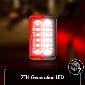 SPN-T2G 36W - 12 LED Tow Truck Construction Vehicle LED Grille Light Head Surface Mount WarningLight
