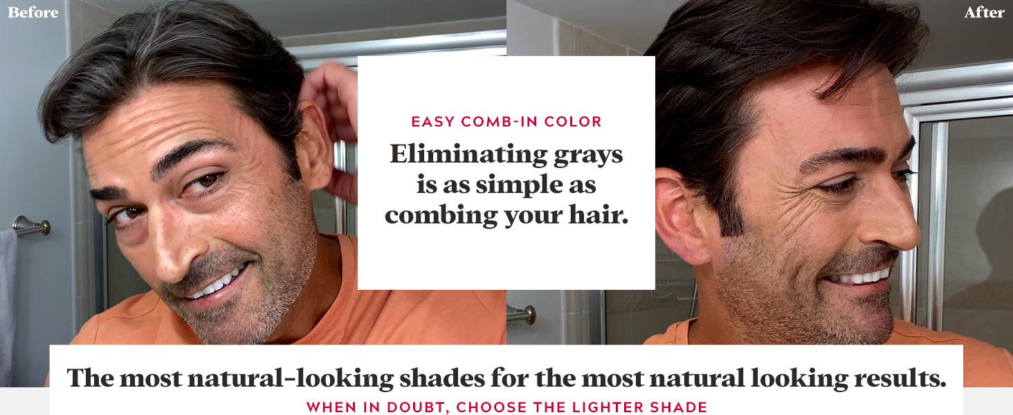 Easy Comb-in Color: Eliminating grays is as simple as combing your hair.