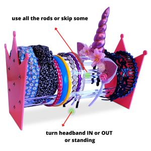 Different Headbands in One Headband Holder Organizer