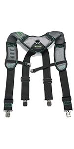 Gel work suspenders for men