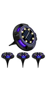 Devo Solar Ground Lights Disk Lights