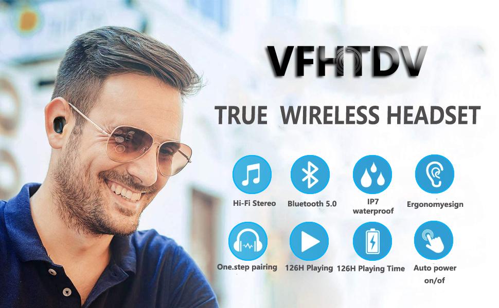 [2021] New Wireless Earbuds Bluetooth 5.0 Headset,
