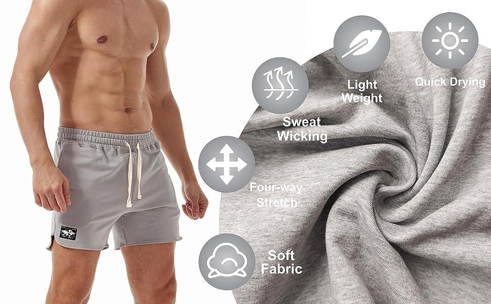 AIMPACT Mens Workout Sweat Shorts