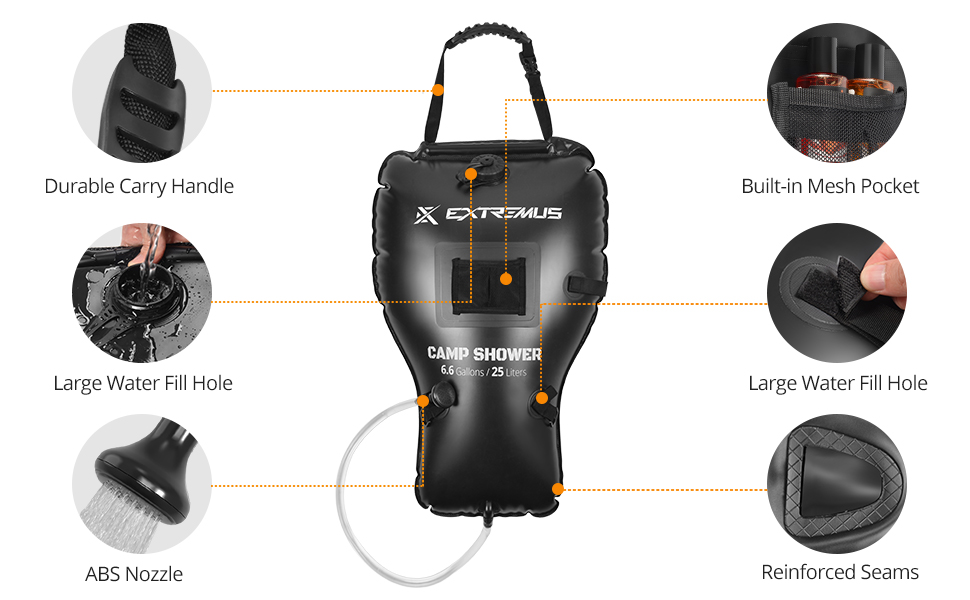 Extremus camping shower bag