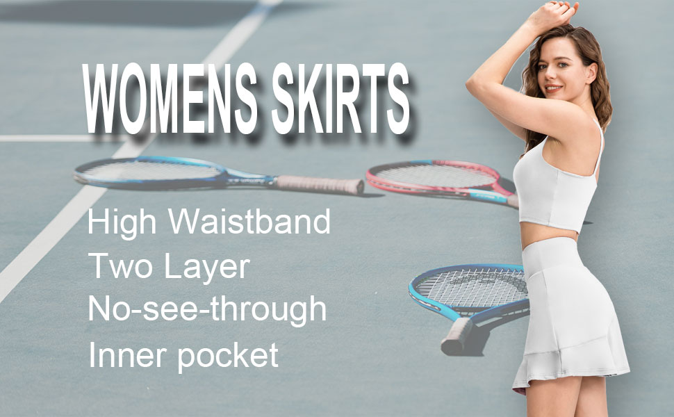 tennis skirts for women with pockets black white golf pleated athletic girls workout high
