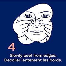 Biore pore  facial and  nose strip  easy use application step 4