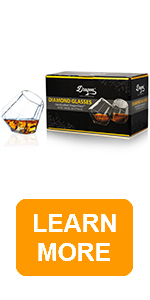 dragon glassware diamond whiskey glasses with packaging