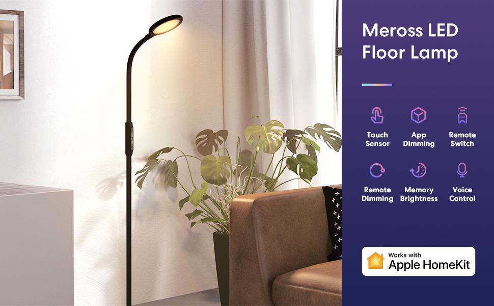 meross smart led floor lamp