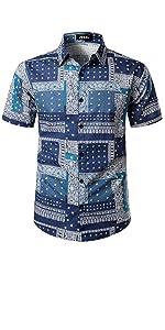 Men's Paisley Bandana Print Hawaiian Shirt