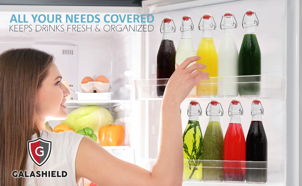 Keep homemade drinks fresh and organized in your fridge