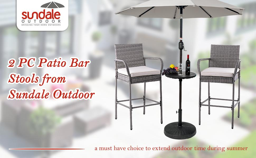 outside chairs bar furniture patio chairs set of 2 patio bar bar height chairs wicker bar stools