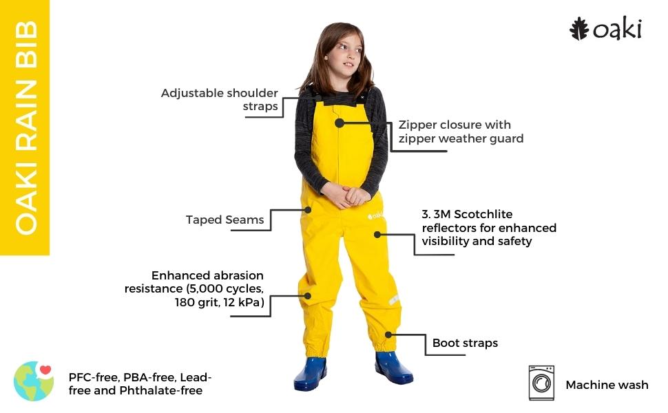 rain bibs, oaki rain bibs, rain overalls, pants rain pants, rain gear