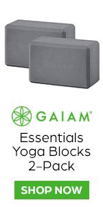 Gaiam Essentials Yoga Block 2-Pack