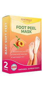 peach foot mask