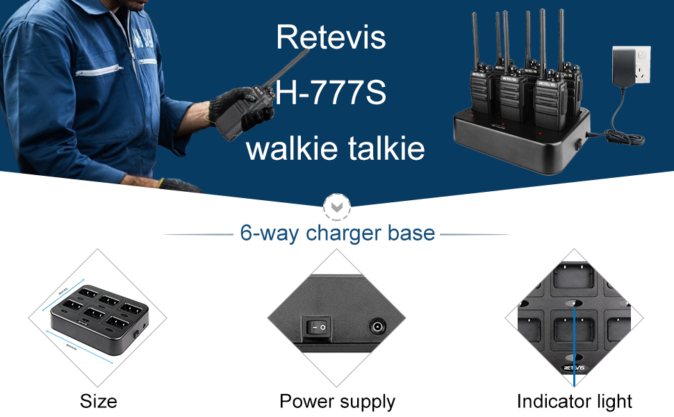 handheld walkie talkie with charger