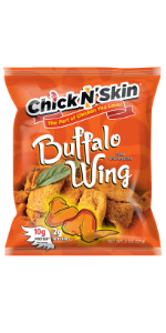 Crispy fried chicken skins - buffalo wing keto low carb high protein chips gluten free snacks